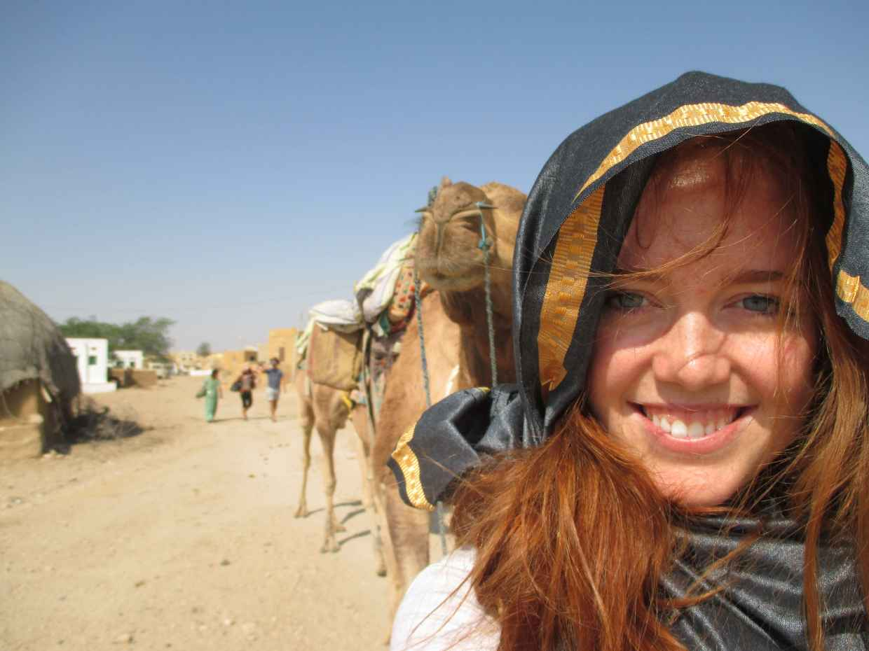 Camel Safari in Rajasthan, India.