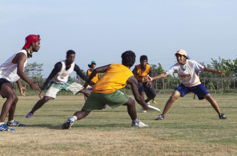 India's U23 team in action. Photo: Varsha Yeshwant Kumar/GlobalPost