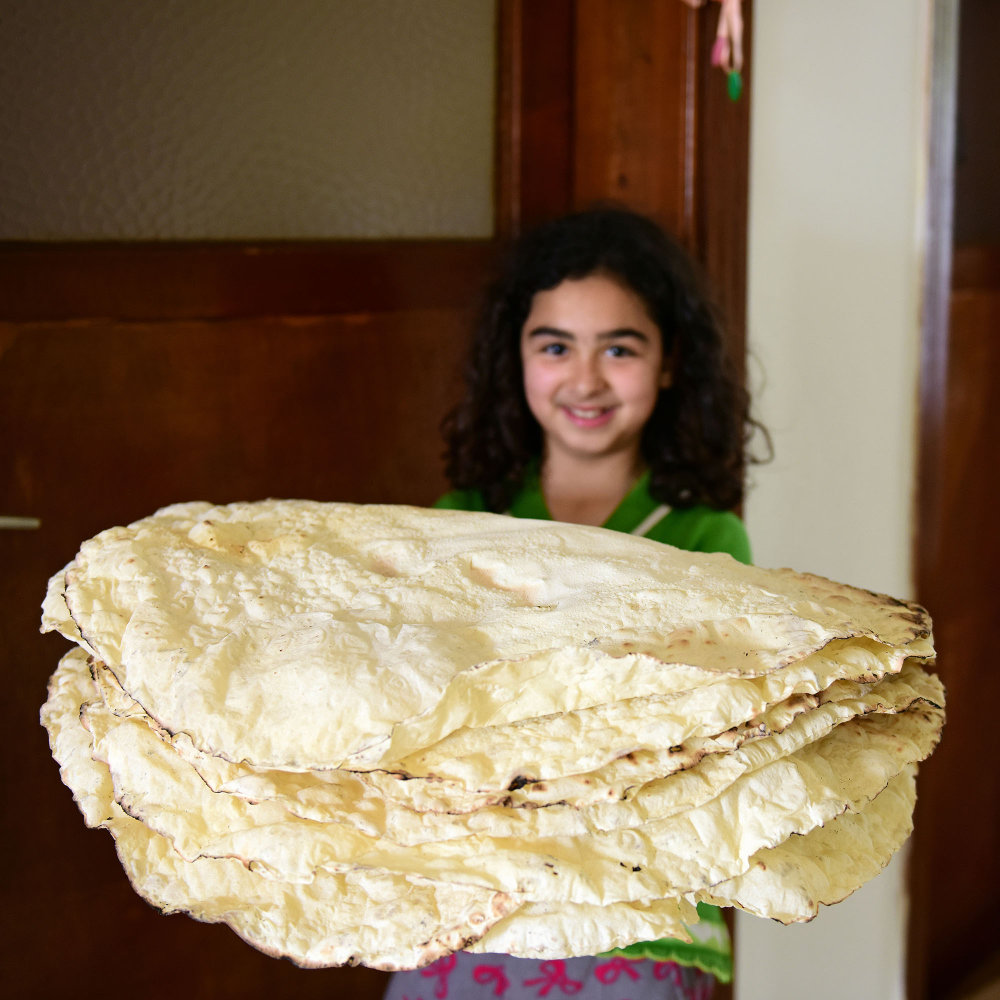 Turkish girl with bread