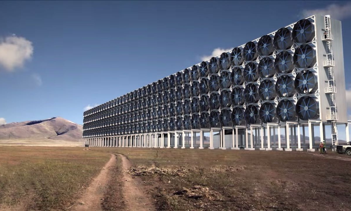 Scientists have built a machine that takes carbon dioxide out of the air and turns it into clean energy