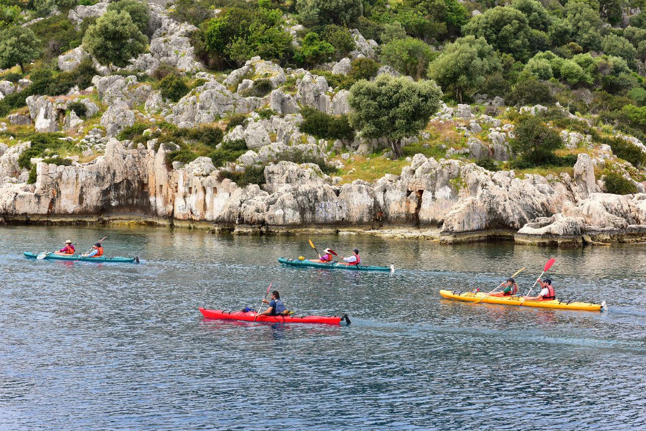 Sea kayaking in Turkey