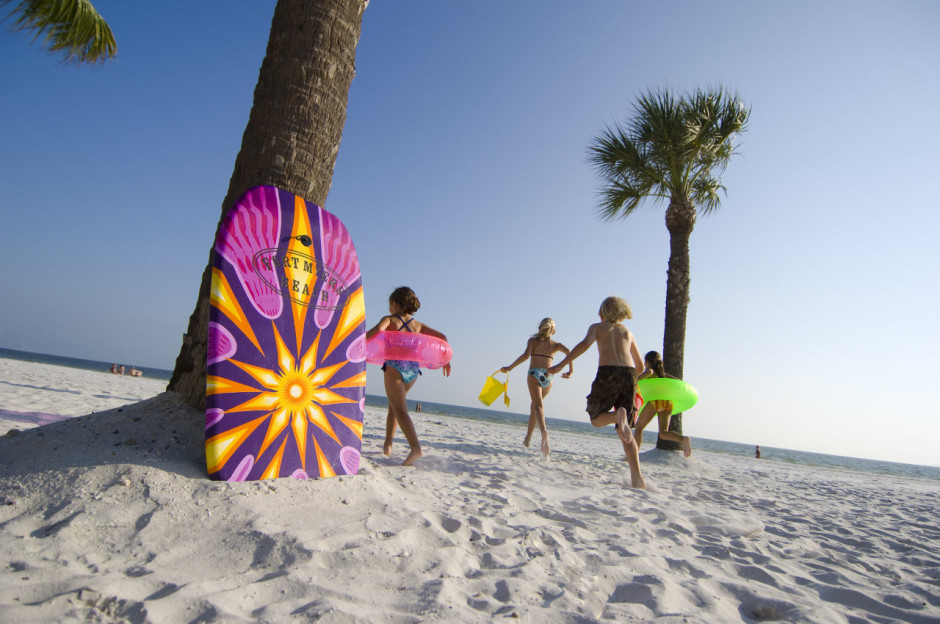 Kids on the beach, Fort Myers and Sanibel