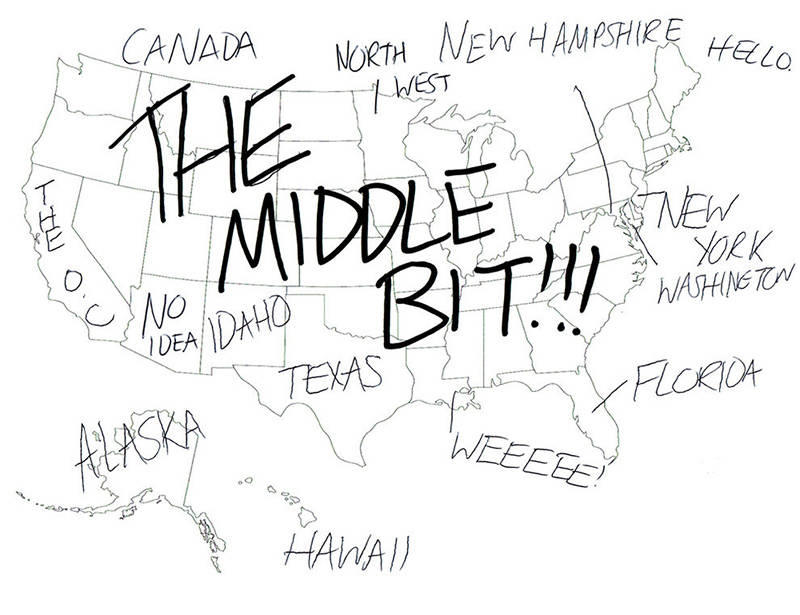 Londoners Try To Label The United States With Hilarious Results - Incorrect us map