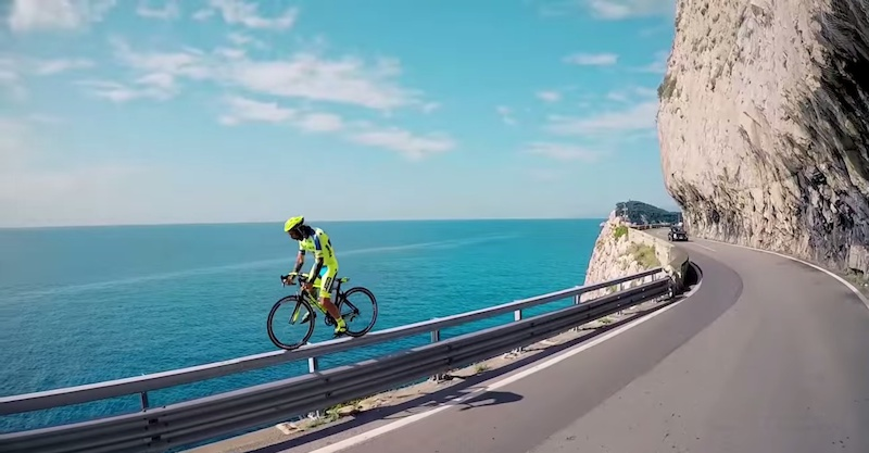 Watch this rider pull off hardest tricks ever attempted on a road bike