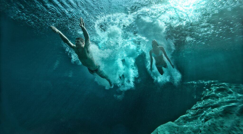 blue pools