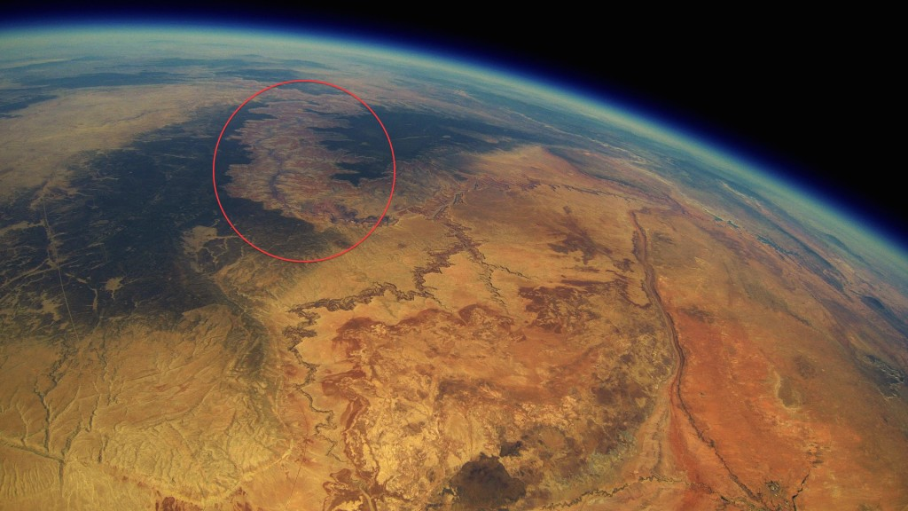 A Go Pro was launched into space and was found 2 years later. Check out the video it got.