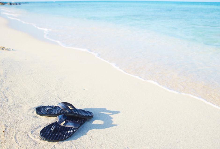 Aruba white-sand beach