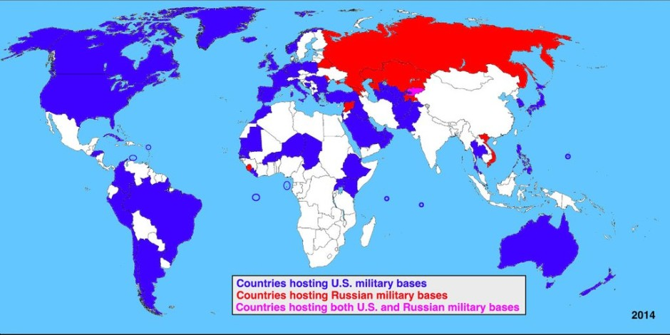 Maps That Will Teach You Something New About The World - Map of us army bases