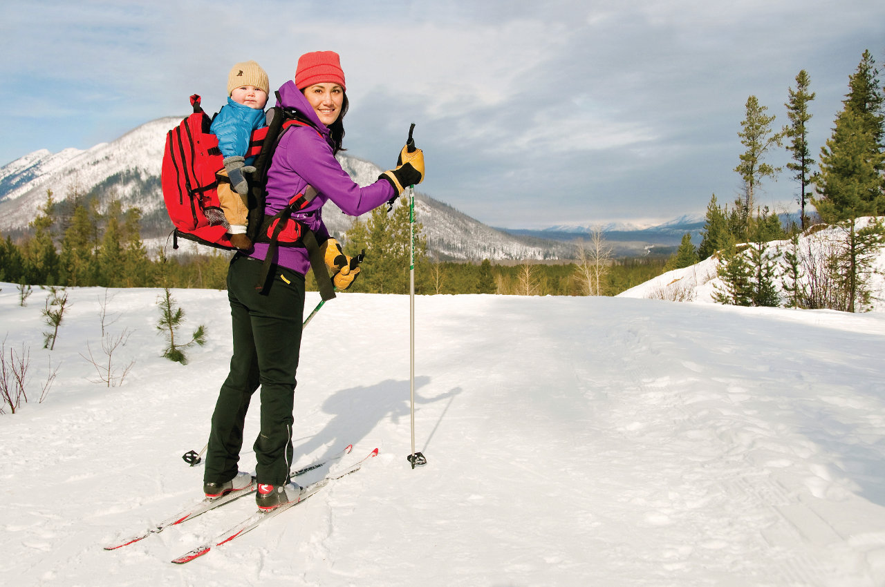 Cross-country skiing in Glacier