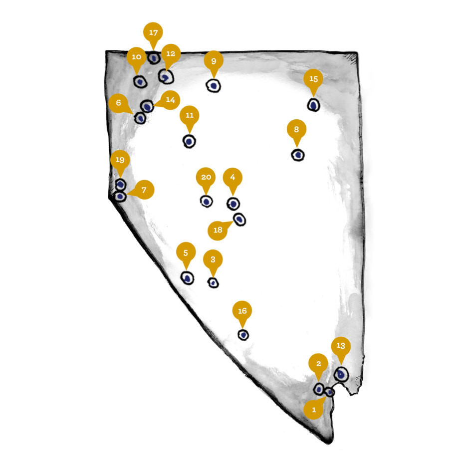 NV hot springs map