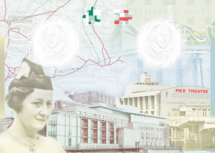 Architect Elisabeth Scott is one of the two women featued on the new UK passport.