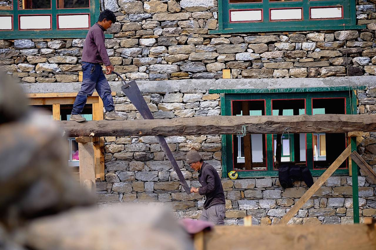 Nepal pic3 Repair work in Namche Bazar Christophe Noel