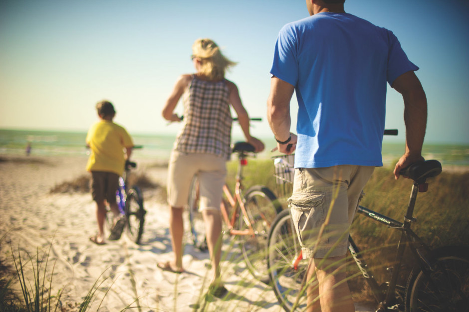 Fort Myers bicycle family