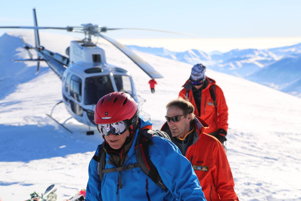 Idaho heli-skiing