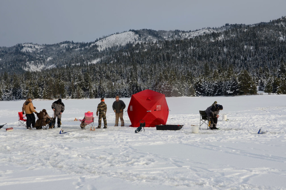 Ice fishing in Idaho