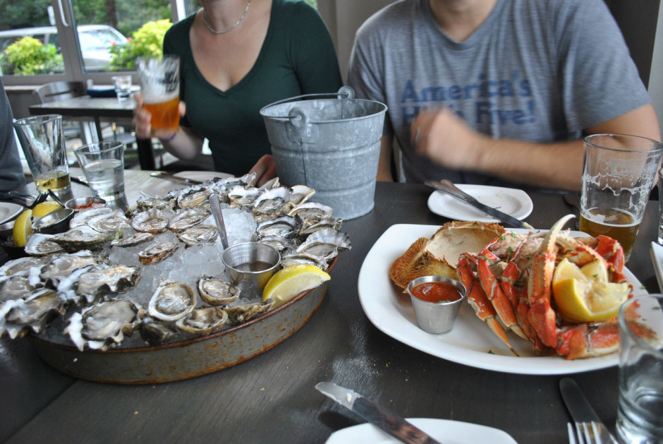 Oysters and crab, Seattle