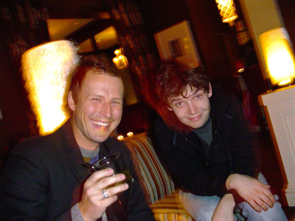 Rob and T&S guitar player Ted Gowans at Sir Harry's Bar