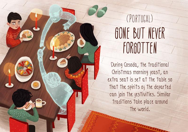 Christmas Traditions Around The World.20 Charming Illustrations Of Christmas Traditions From