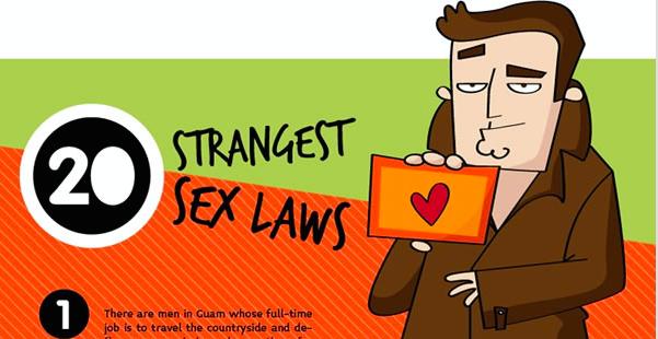 20 of the weirdest sex laws around the world