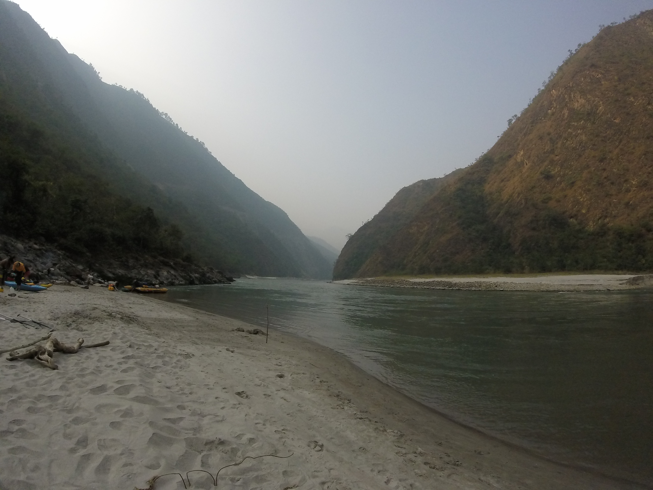 Photo: A typical river beach along Nepal's Sun Kosi River. Elen Turner