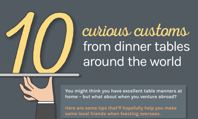 Pictures Of Dinner Tables infographic: 10 curious customs from dinner tables around the