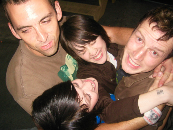 (Bass player, Chris, Sara, Rob, Tegan circa 2003)