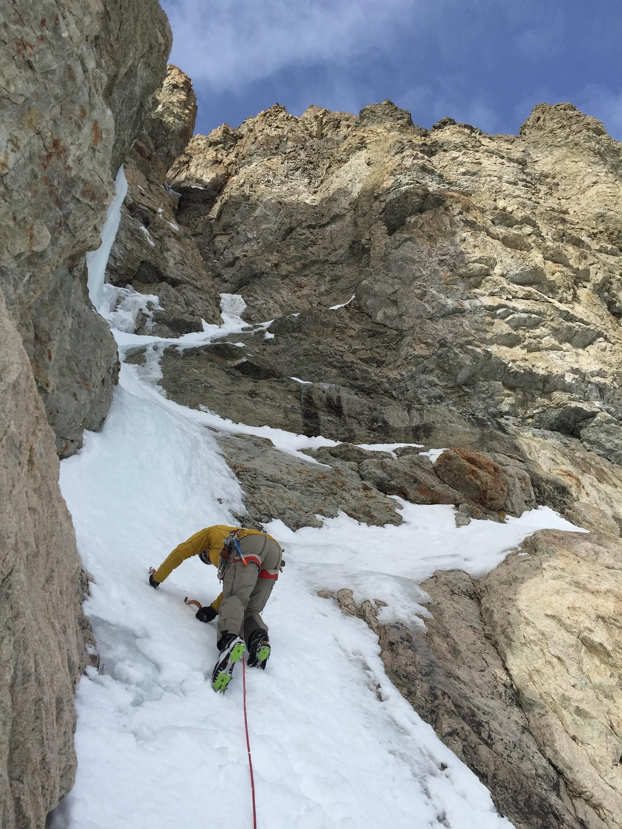 ice climb sawtooth mountain