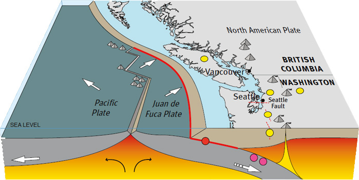 From California To Vancouver Island Were All Vulnerable When - Us west coast vancouver island map