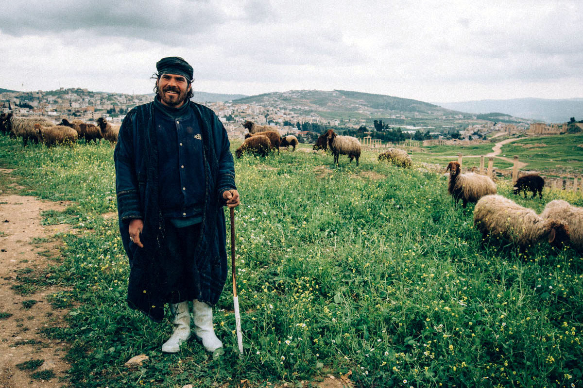 Shepherd at Jerash, Jordan