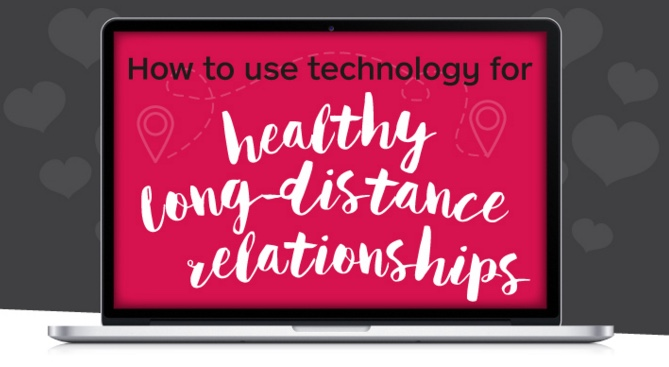 Infographic: how to use technology for a healthy long-distance relationship