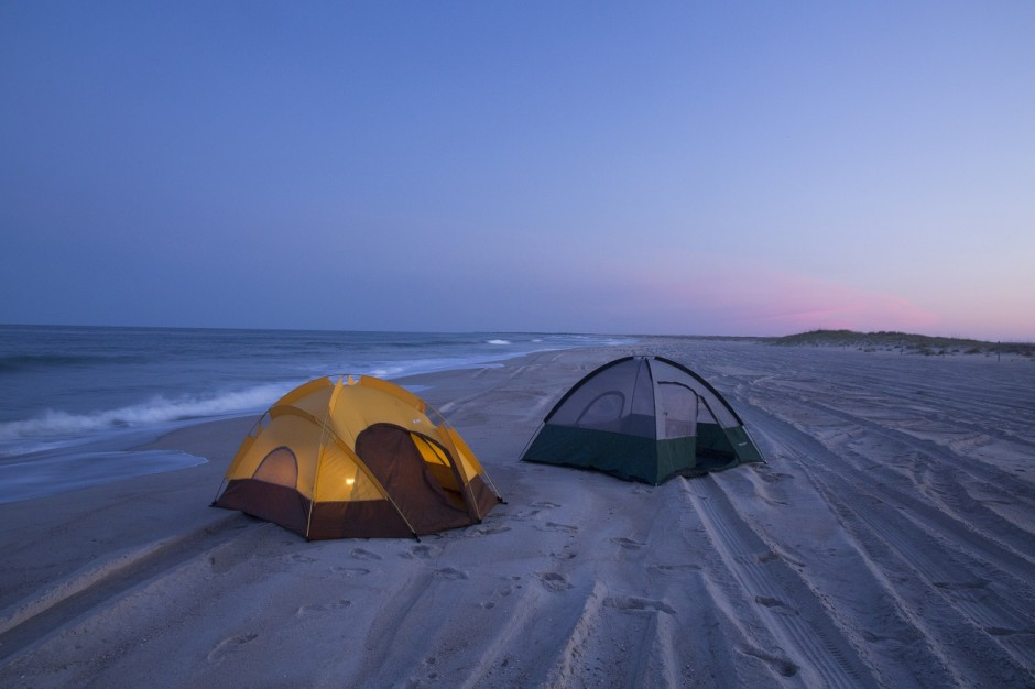 Tent Camping on Carolina Beach 2