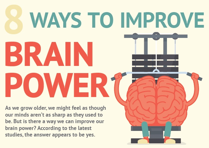Infographic: 8 ways to improve your brain power