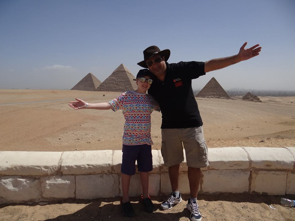 Explorason with an Egyptian guide