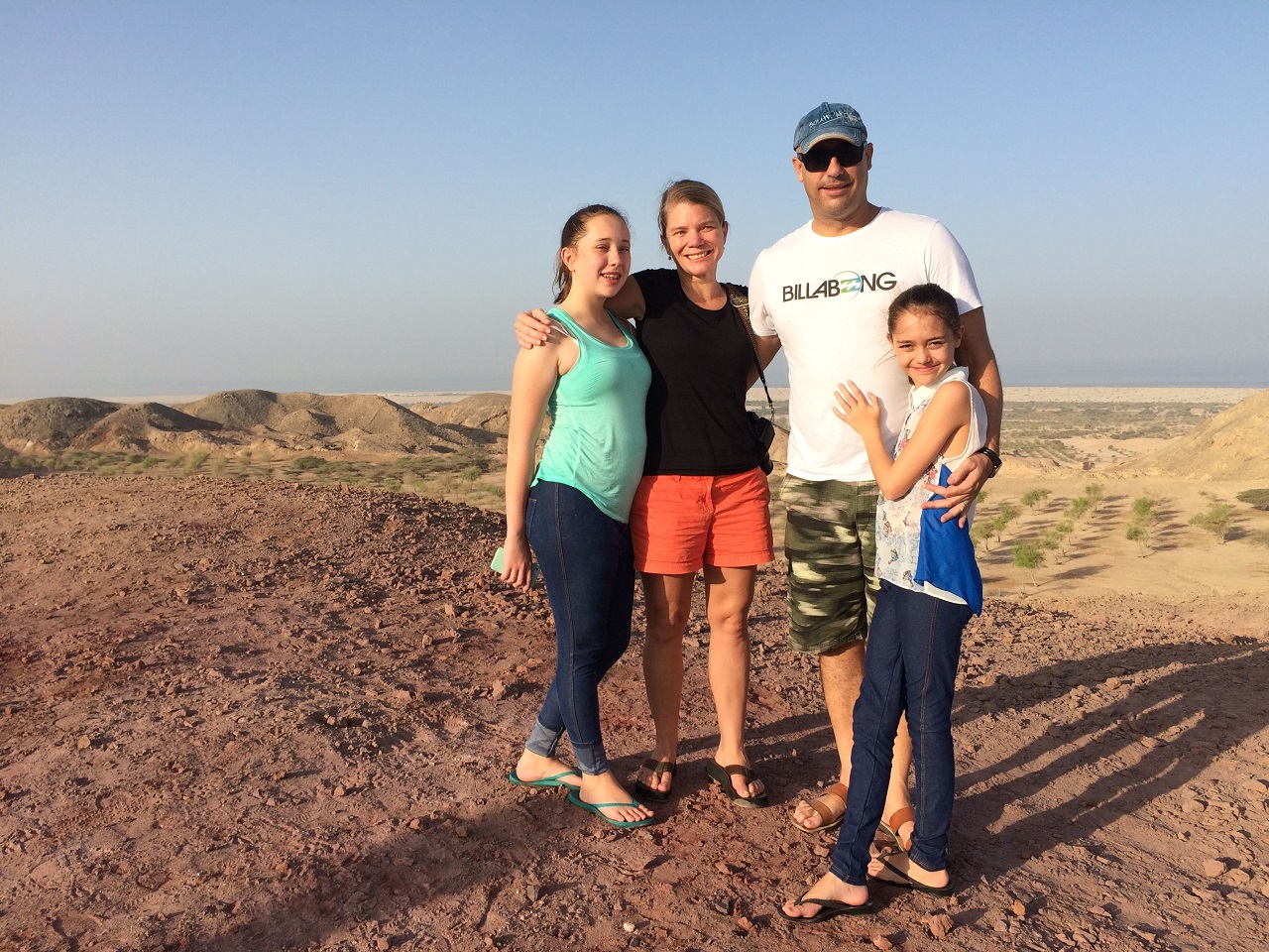 family in the desert