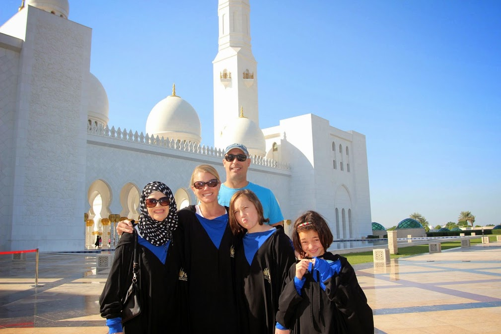 Family at Grand Mosque AbuDhabi