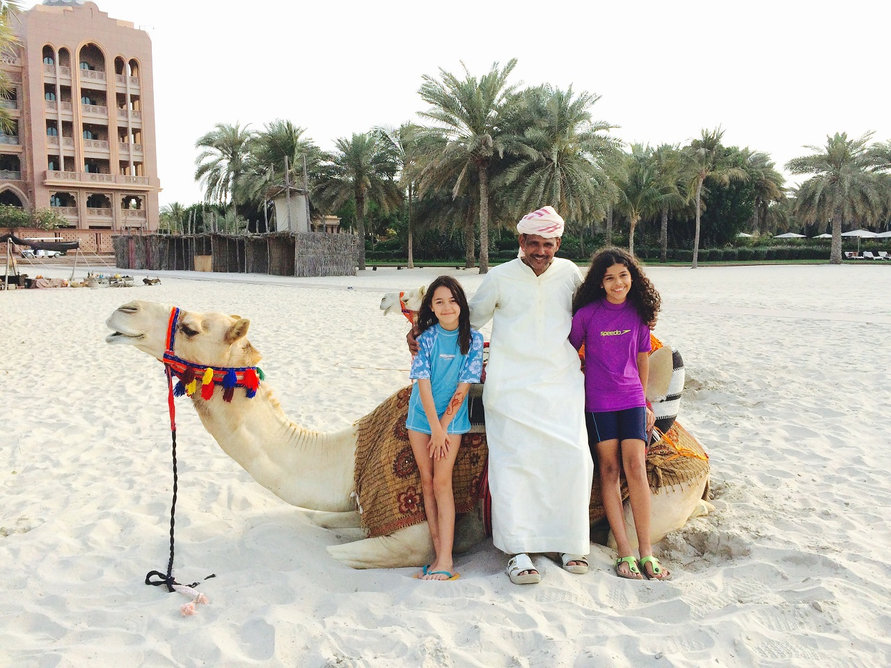 kids and camel