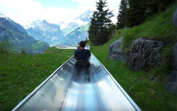 this slide in switzerland is what you always dreamed of as a kid