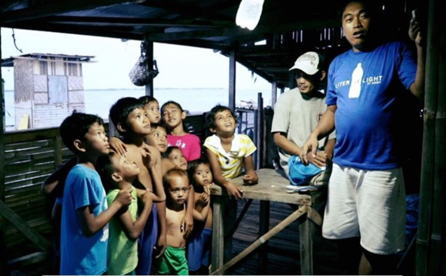 Photo: Liter of Light brings illumination to low-income and disaster-stricken areas.  Medium
