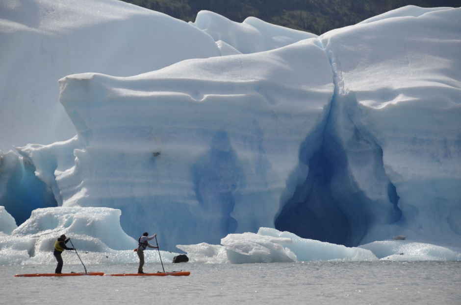 Paddleboarding in Alaska