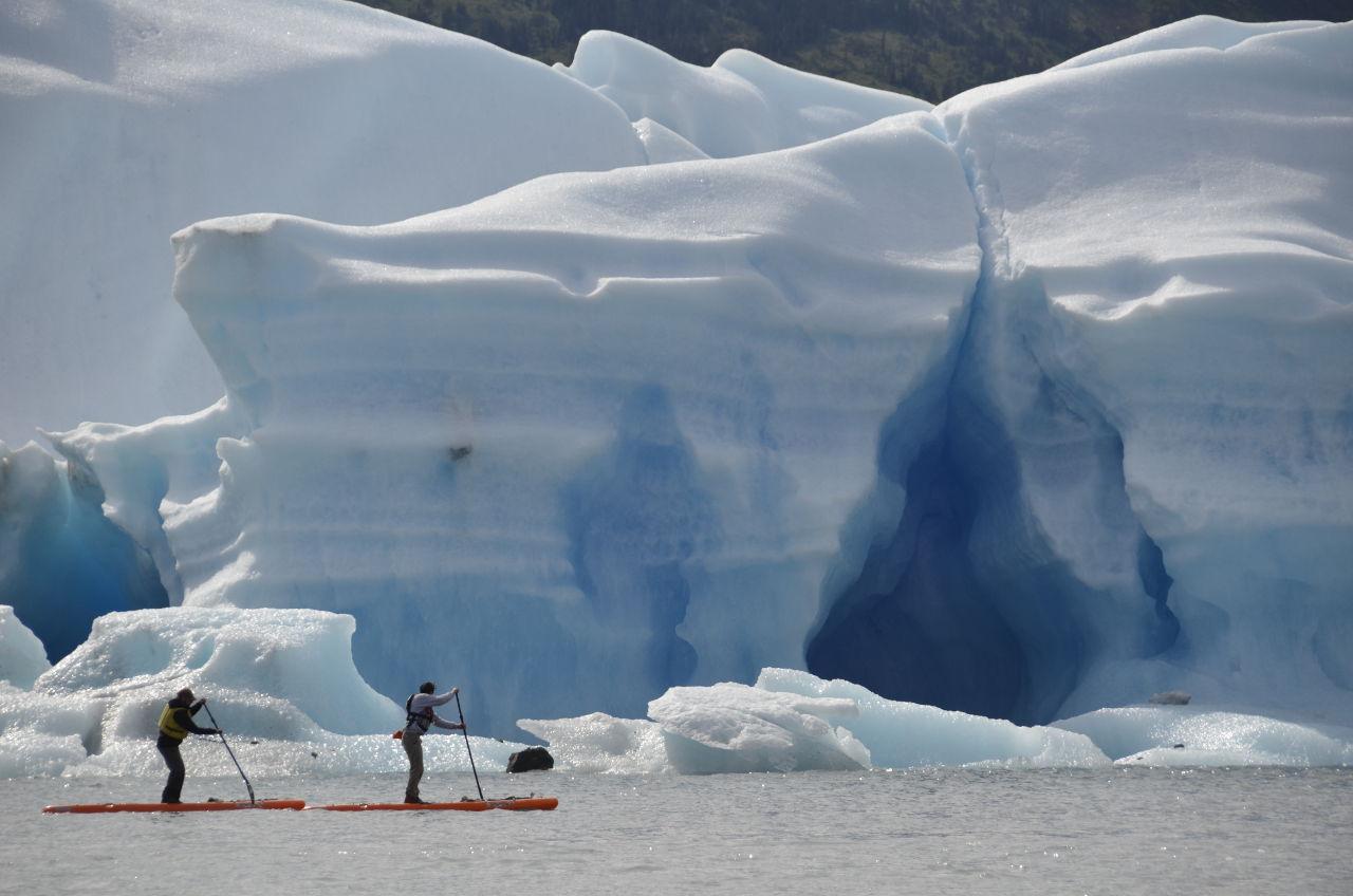 Paddleboarding in Alaska