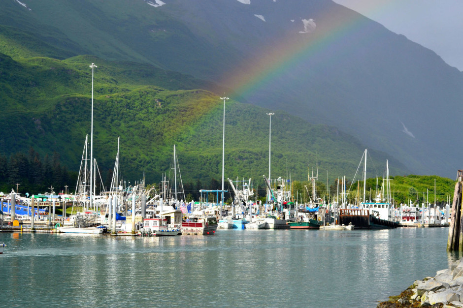 Rainbow over Valdez, AK