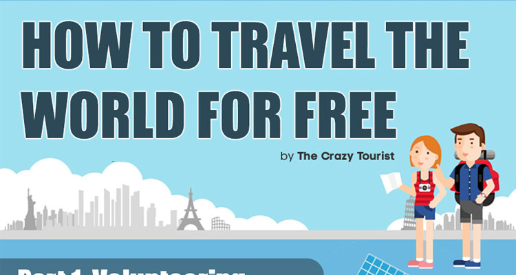 infographic how to travel the world for free matador network