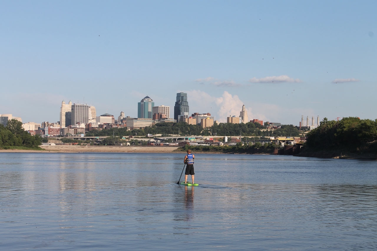 DowntownKC from Kaw Point by Melanie White