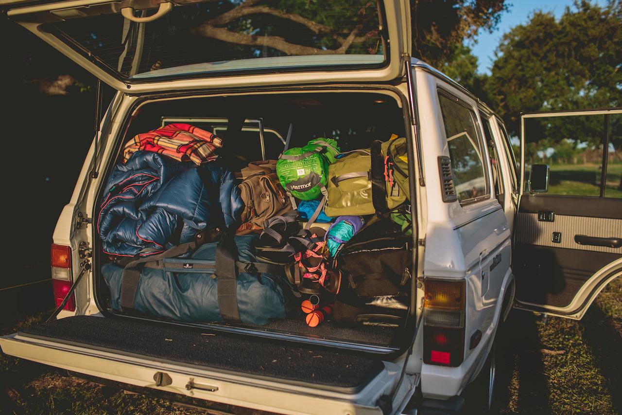 Car camping pack