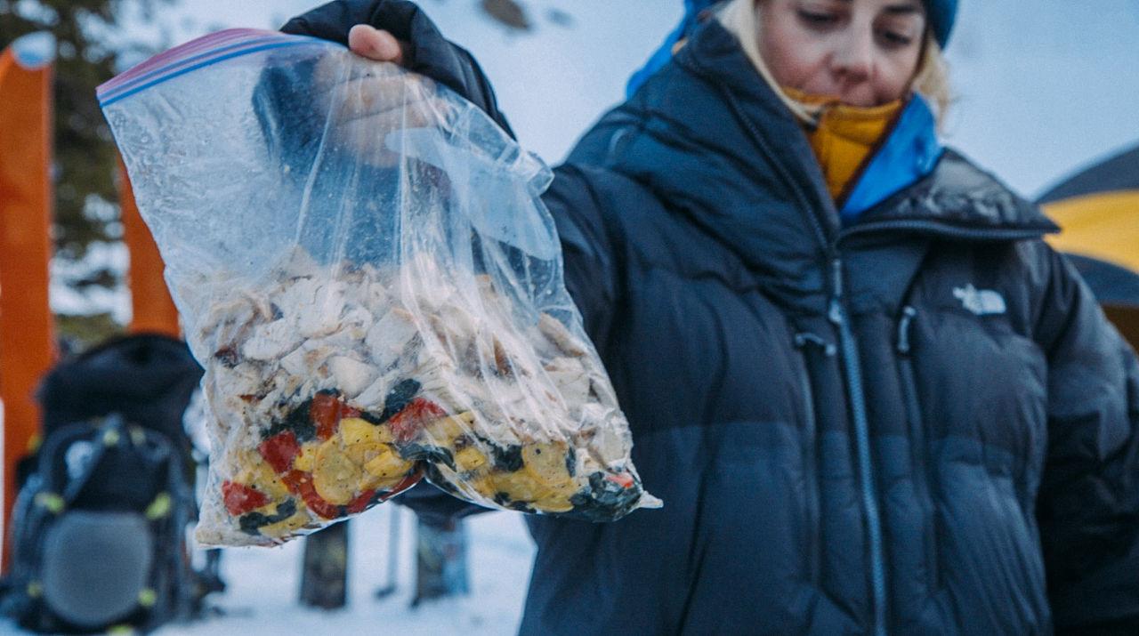 Camp food in a bag