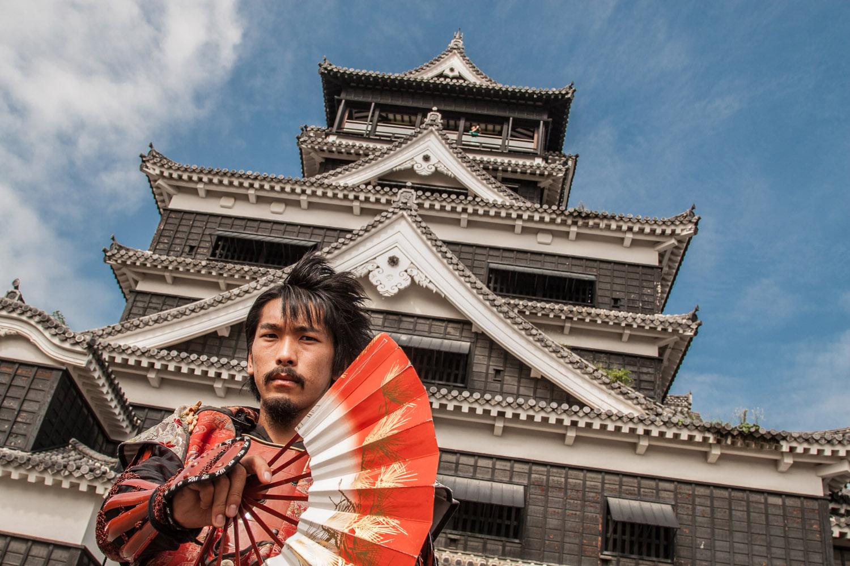 Unmasked samurai – Kumamoto Castle, Kumamoto City