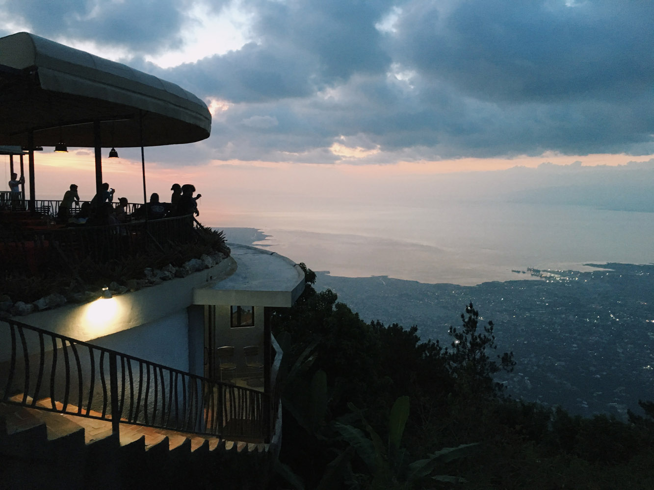 A restaurant overlooking all of Port-au-Prince and Carrefour