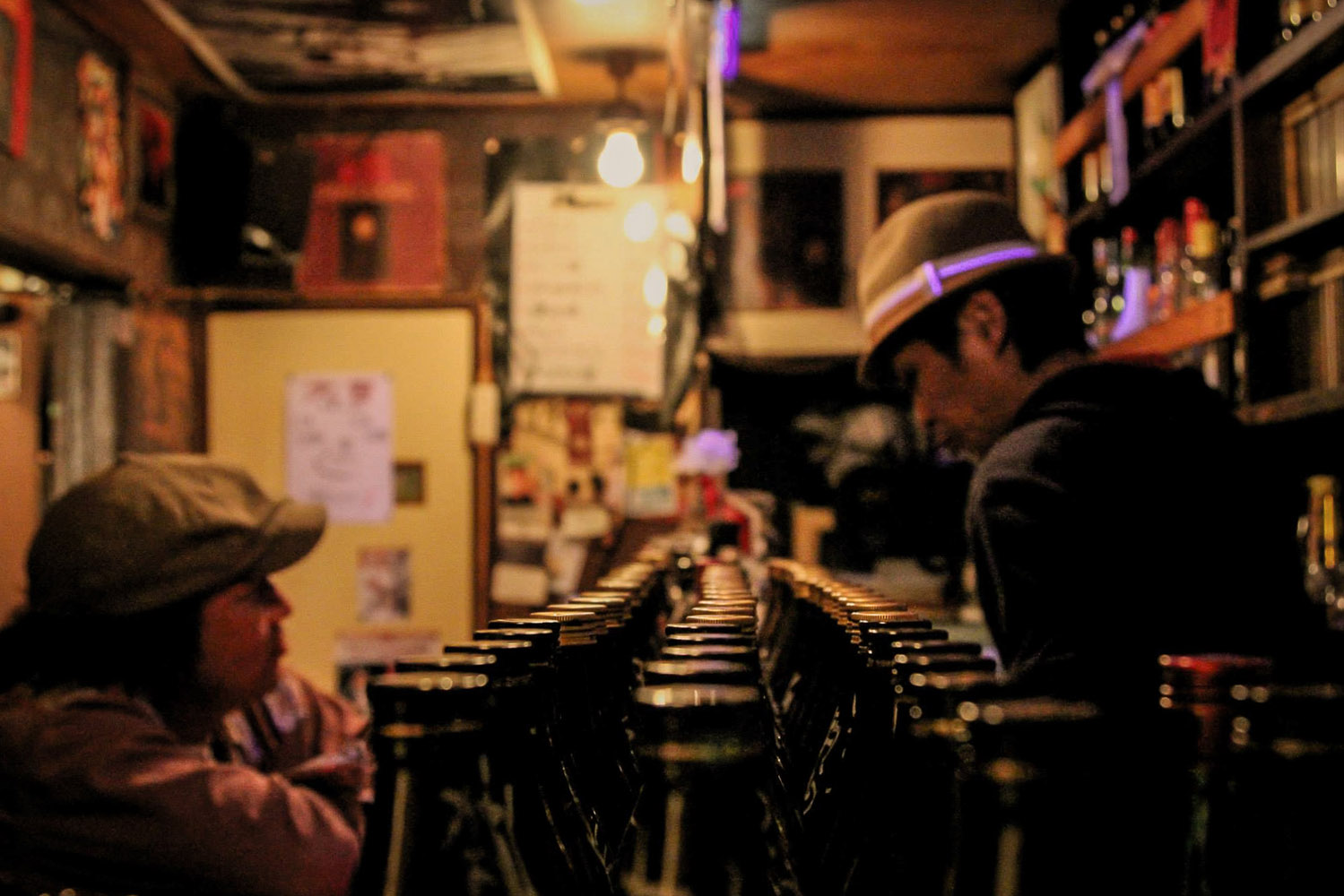 Inside Daikichi, a bar in Golden Gai – Shinjuku, Tokyo