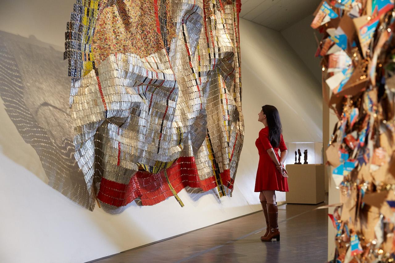 The African art gallery in the Denver Art Museum's Hamilton Building. Courtesy Denver Art Museum.