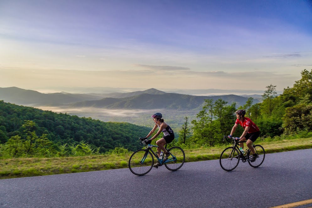 Blue Ridge Parkway cycling